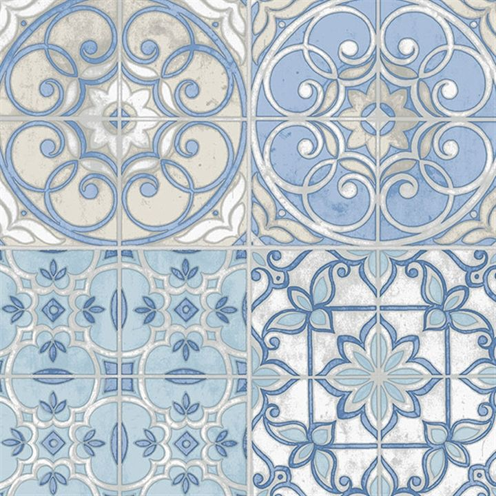 This wallpaper is inspired by vintage spanish tiles AmericanBlinds 720x720
