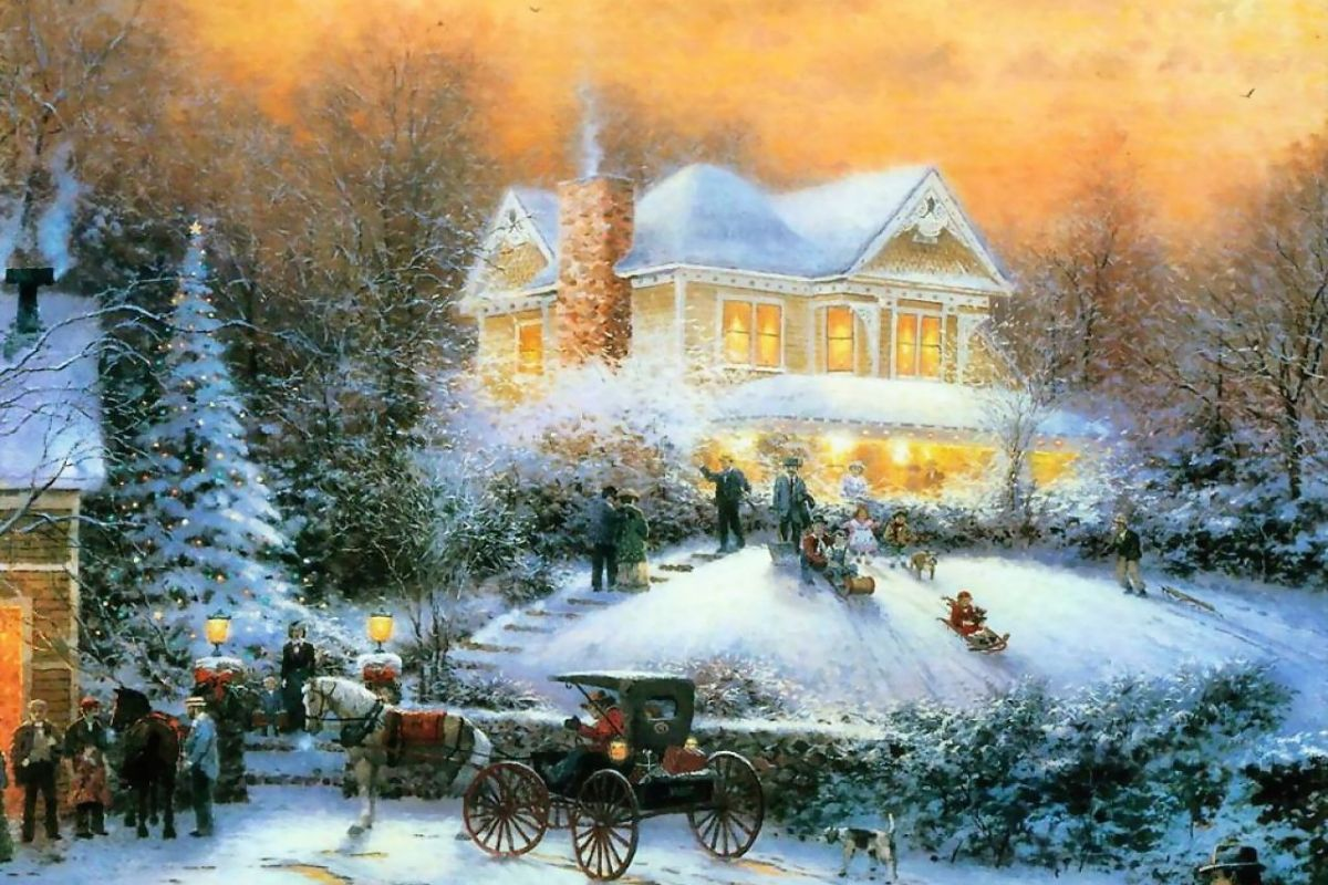 Thomas Kinkade Desktop Wallpaper Christmas - WallpaperSafari