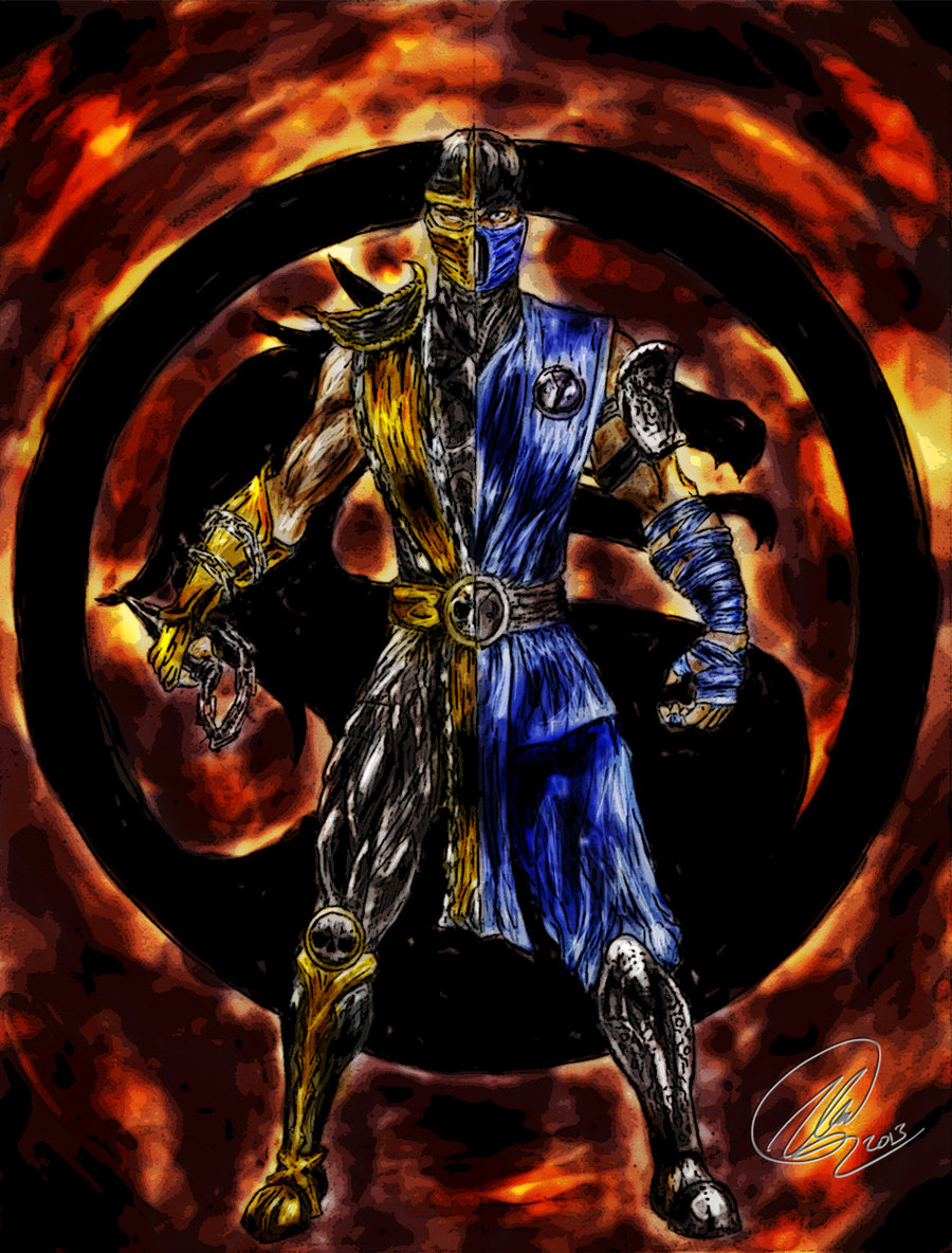 Free Download Pin Scorpion And Sub Zero Mortal Kombat