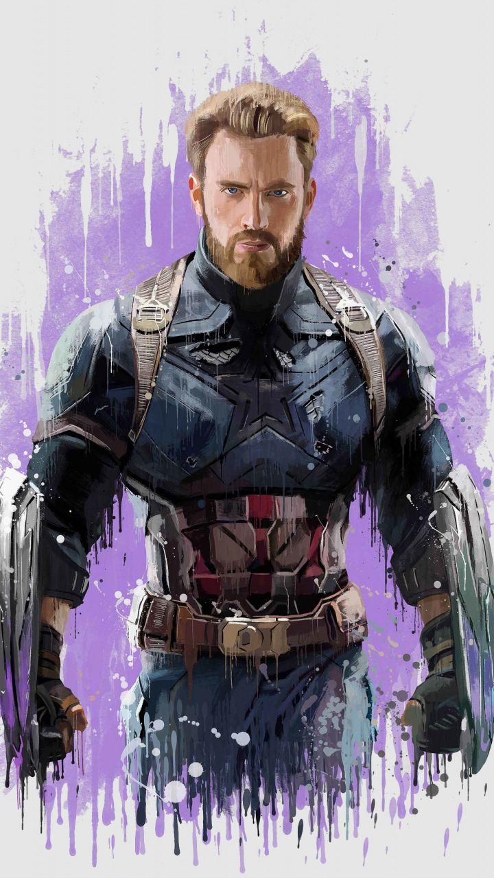 Captain America Avengers infinity war 2018 artwork 720x1280 720x1280