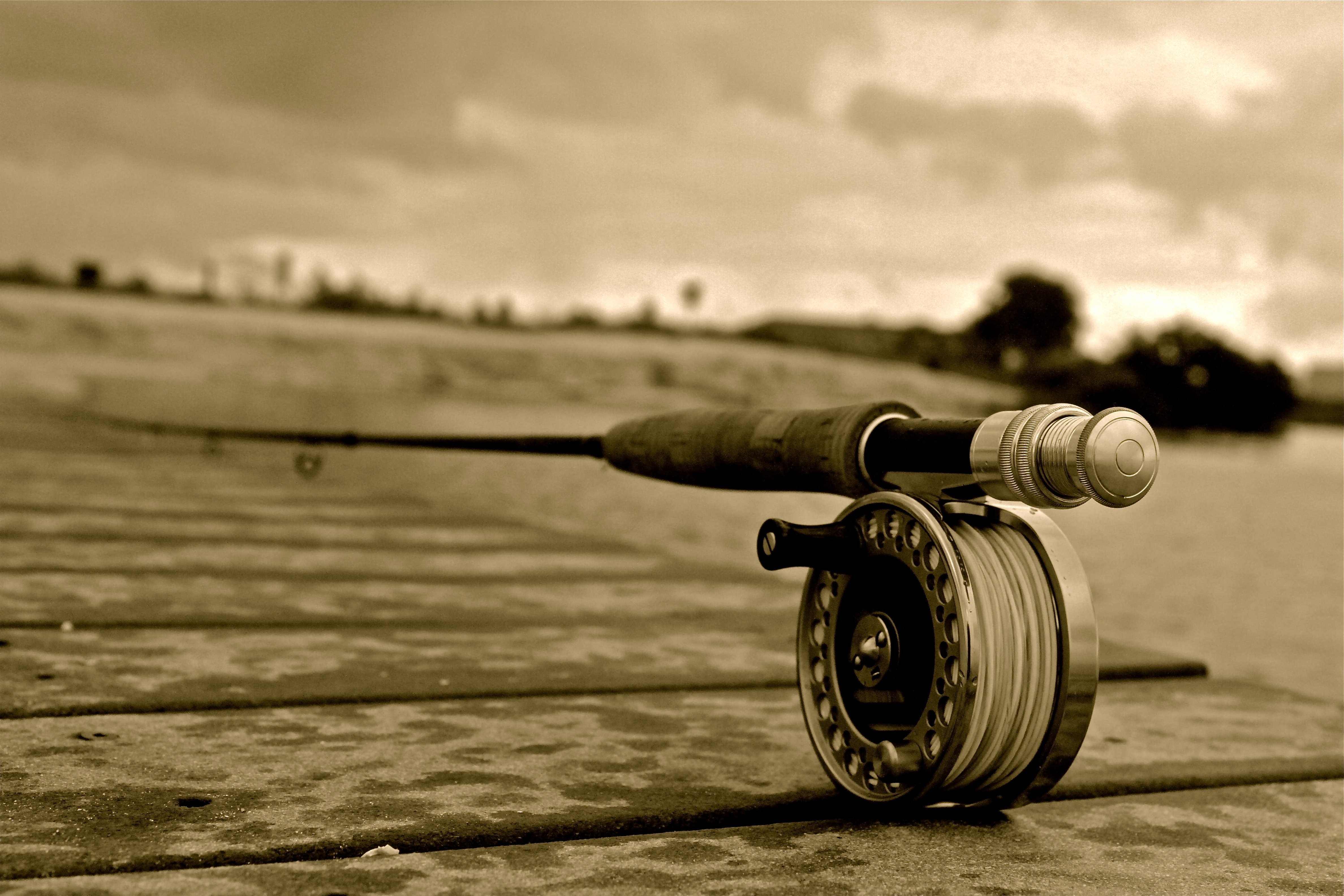 Fishing wallpaper background wallpapersafari for Fishing rod pictures