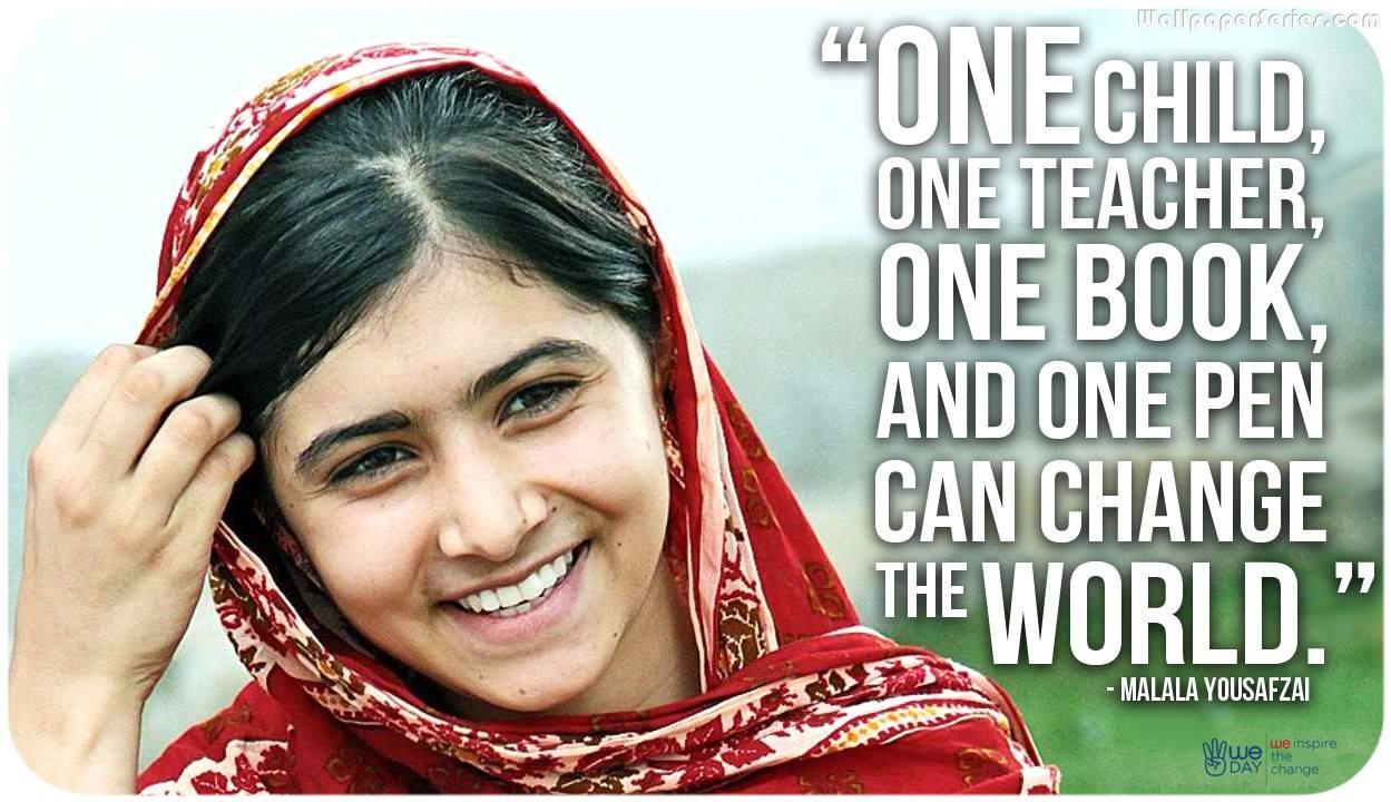 Malala Yousafzai Quotes Wallpaper 05818   Baltana 1249x720