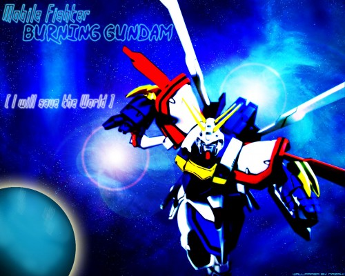 Mobile Fighter G Gundam Wallpaper Burning Gundam   Minitokyo 500x400