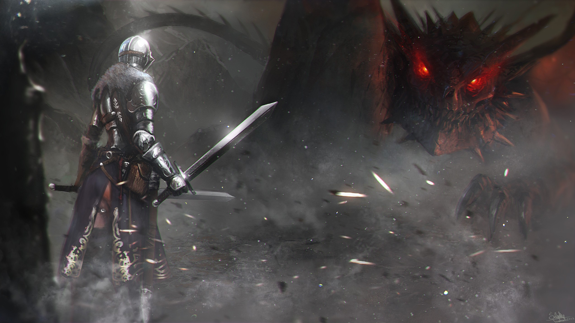 dark souls 2 II game dragon knight hd wallpaper image picture 1920x1080