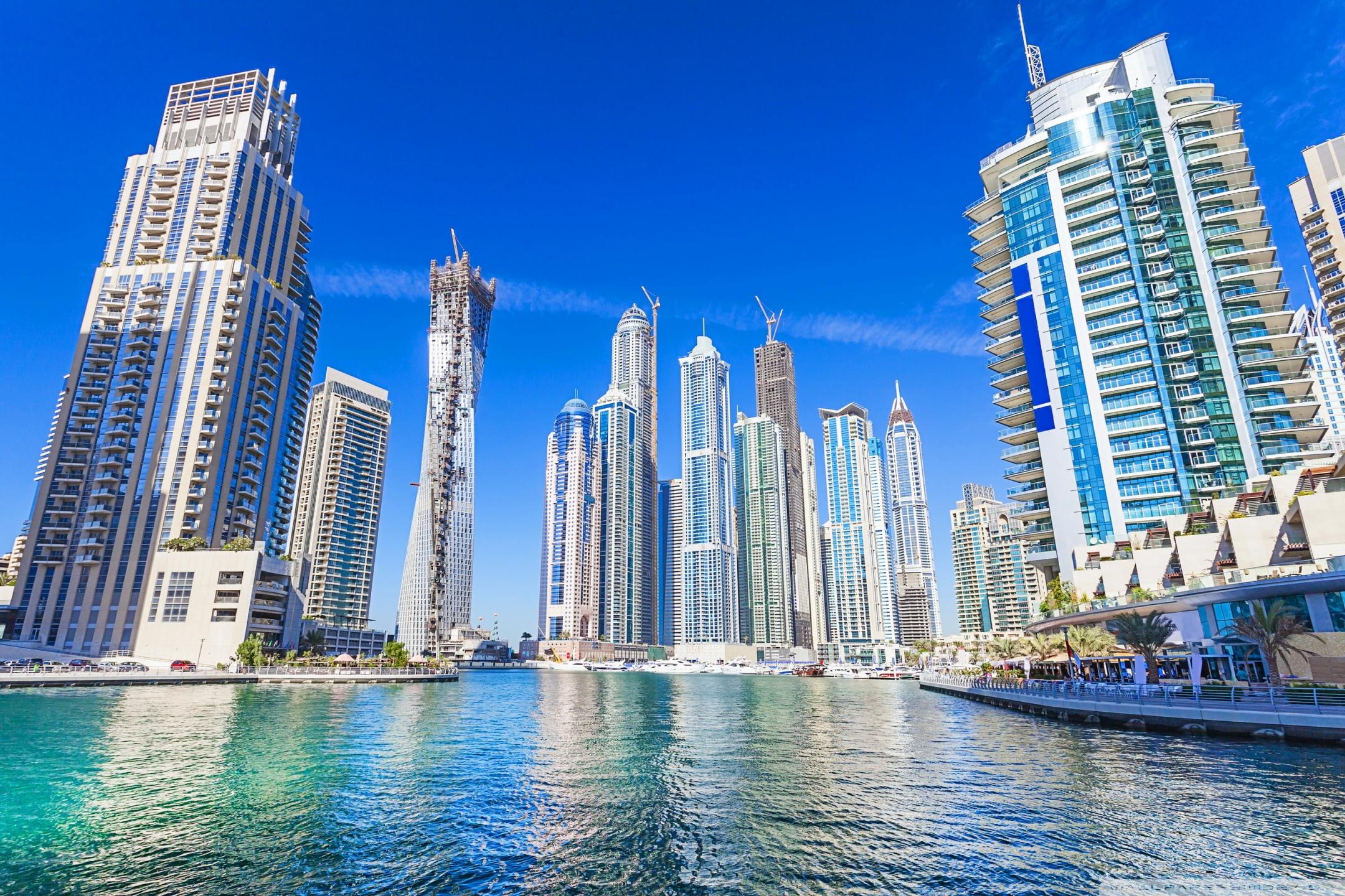 Dubai United Arab Emirates Skyscrapers 4K HD Desktop 2160x1440