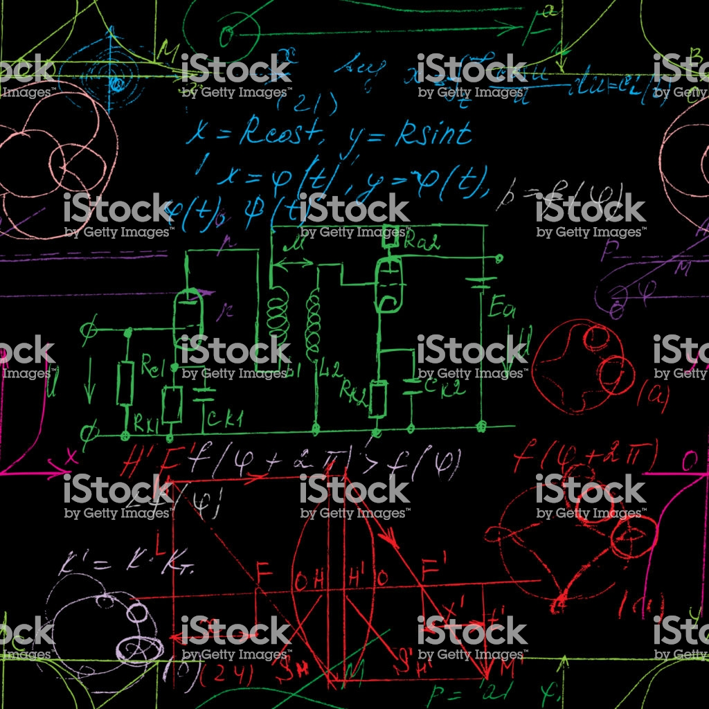 Scientific Seamless Color Background With Handwritten Mathematical 1024x1024