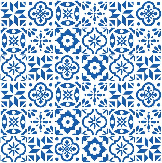 Spanish Tile pattern fabric from spoonflower by elizajanecurtis 540x542