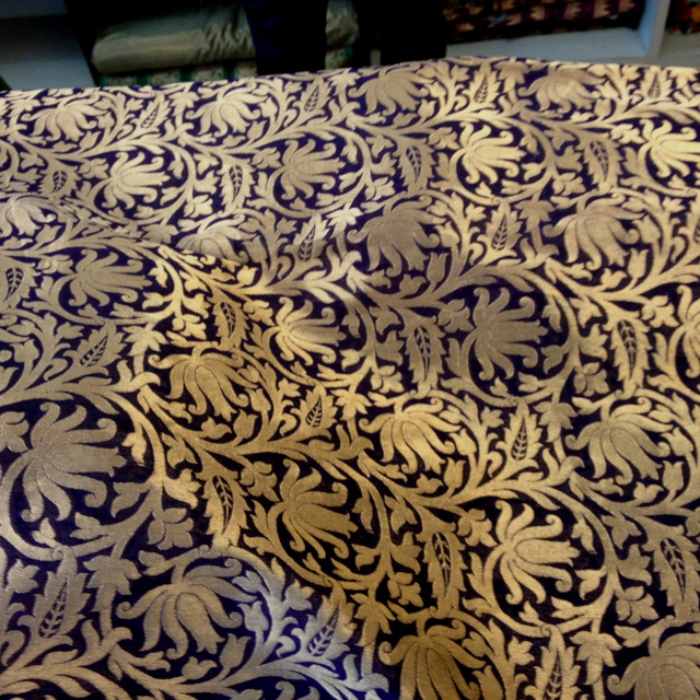 Royal purple with Gold brocade Fabrics Pinterest 640x640
