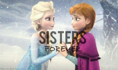 Frozen sisters forever We Heart It 500x300
