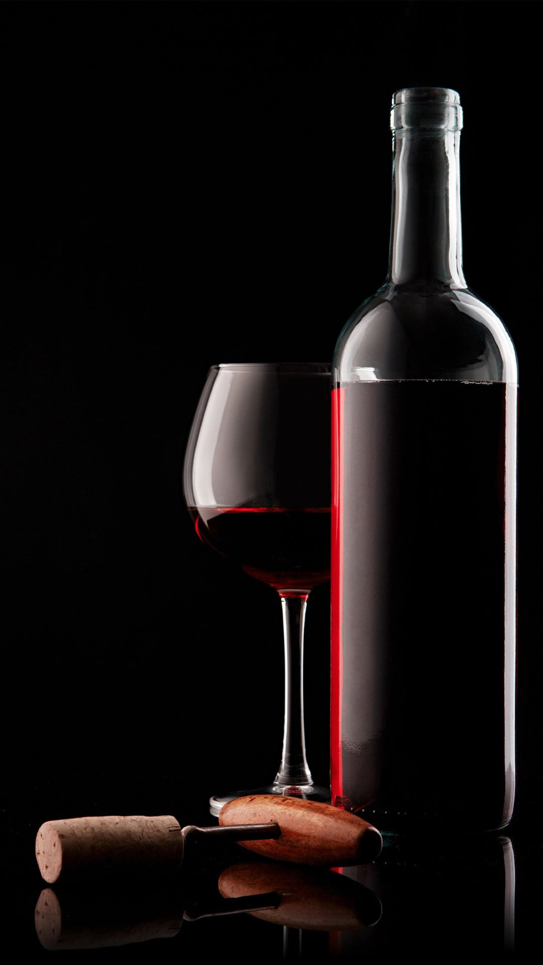 Red Wine Glass Bottle And Corkscrew iPhone 8 Wallpapers Wine 1080x1920