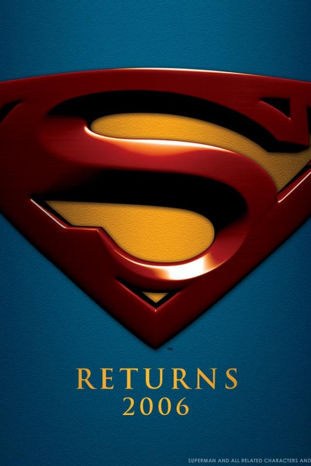 superman logo wallpaper for iphone high definition   Quotekocom 640x960