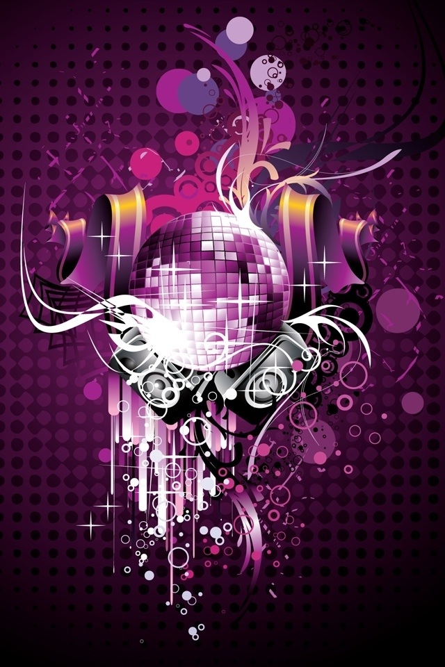disco ball wallpaper disco light wallpaper on deluxe 640 x 960 jpeg 640x960