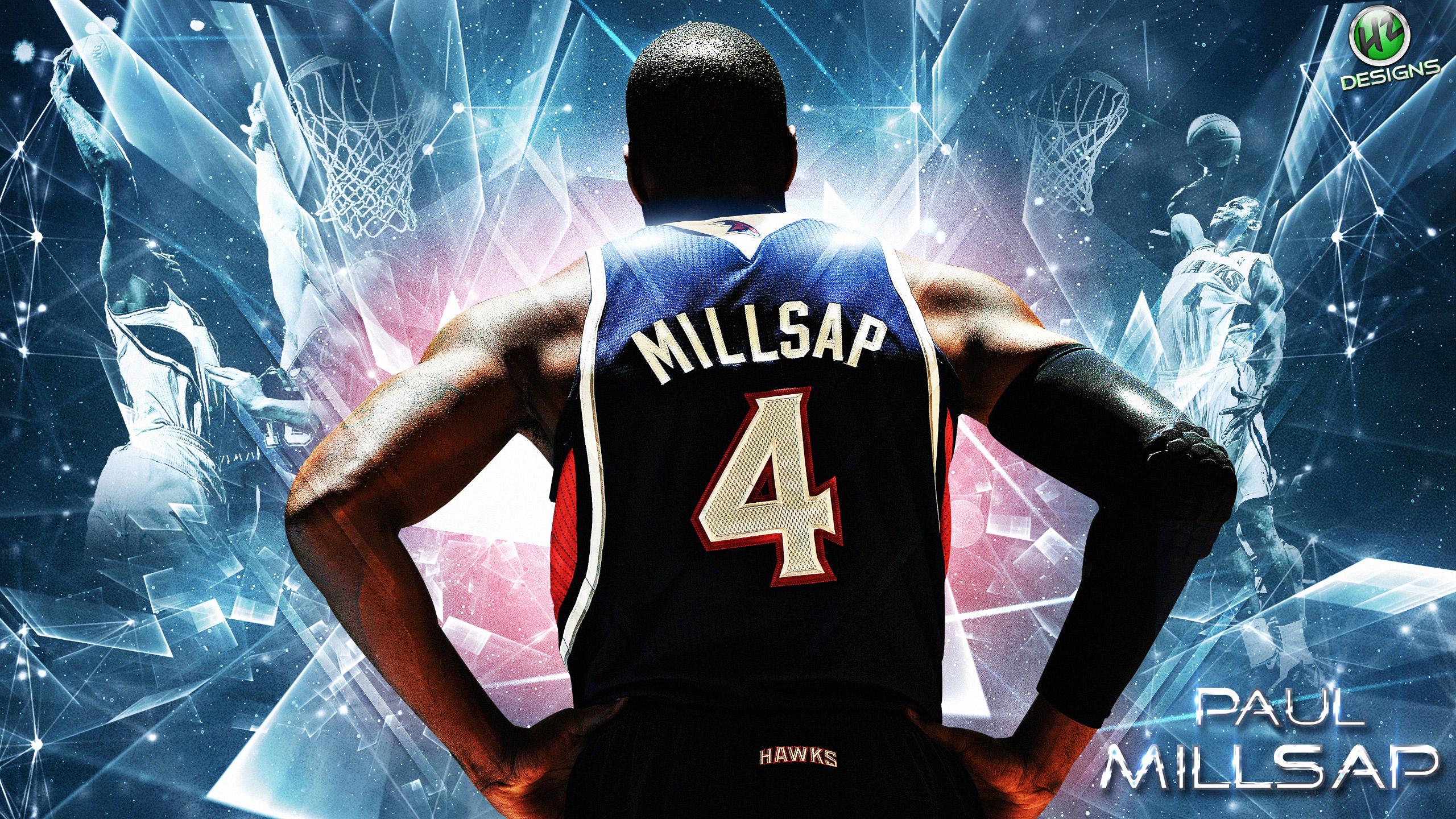 Paul Millsap Hawks Playoffs 2014 Wallpaper 2560x1440