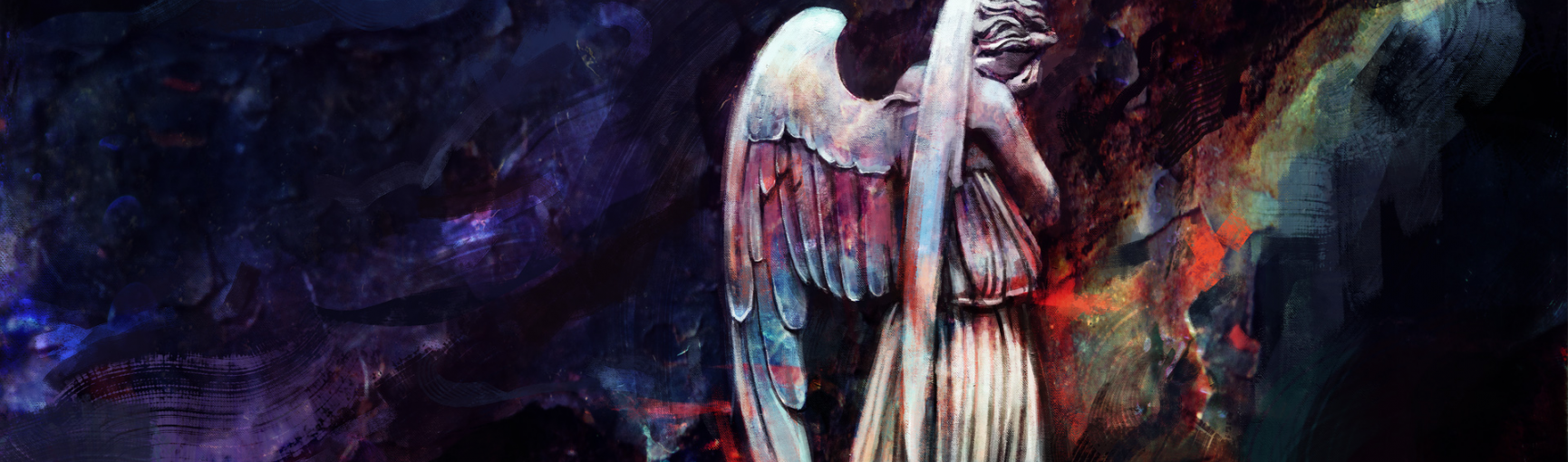 Dont blink Weeping Angels wallpaper Doctor Who 1730x510