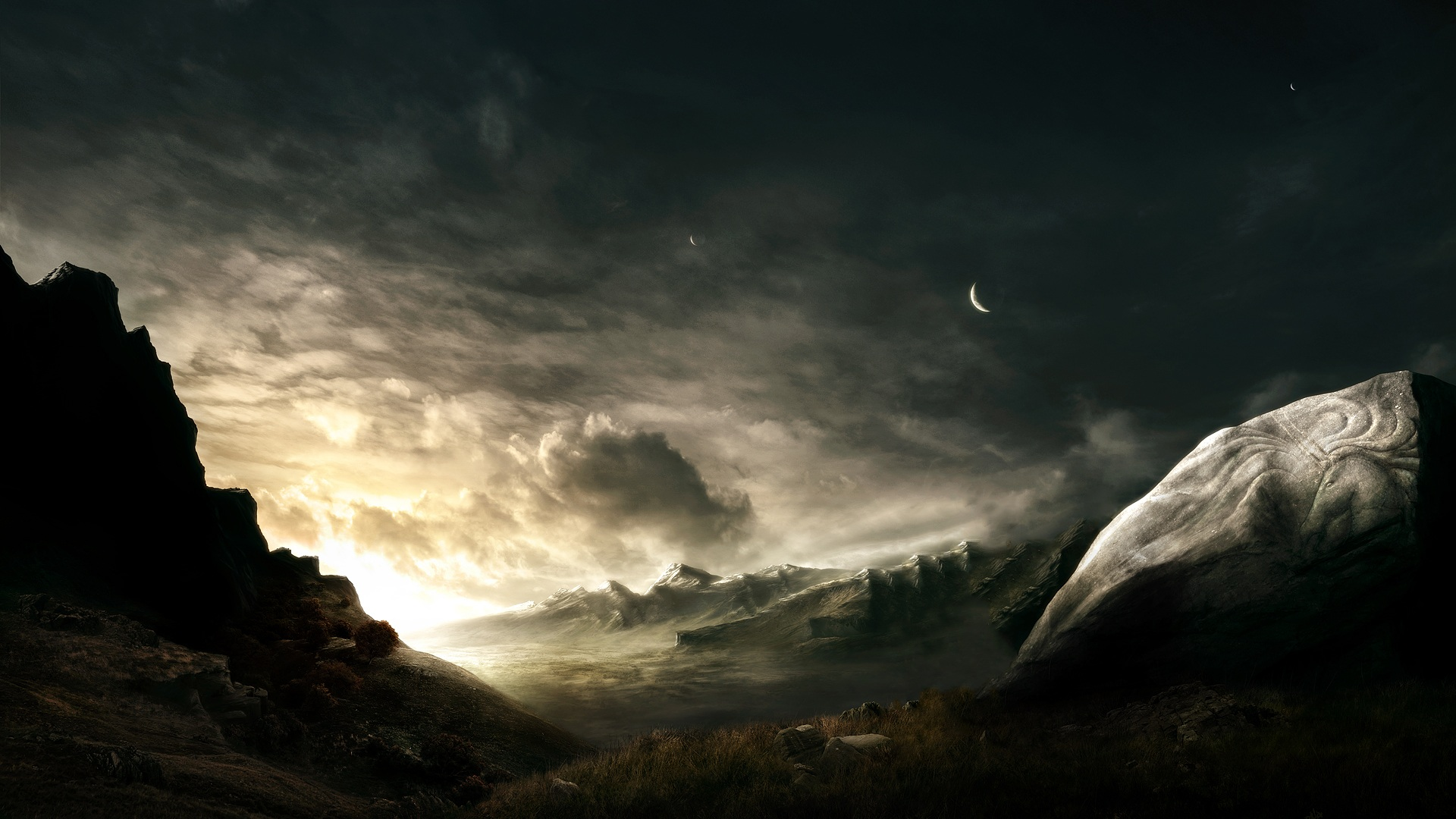 landscape Sci Fi Wallpaper Background 40883 1920x1080