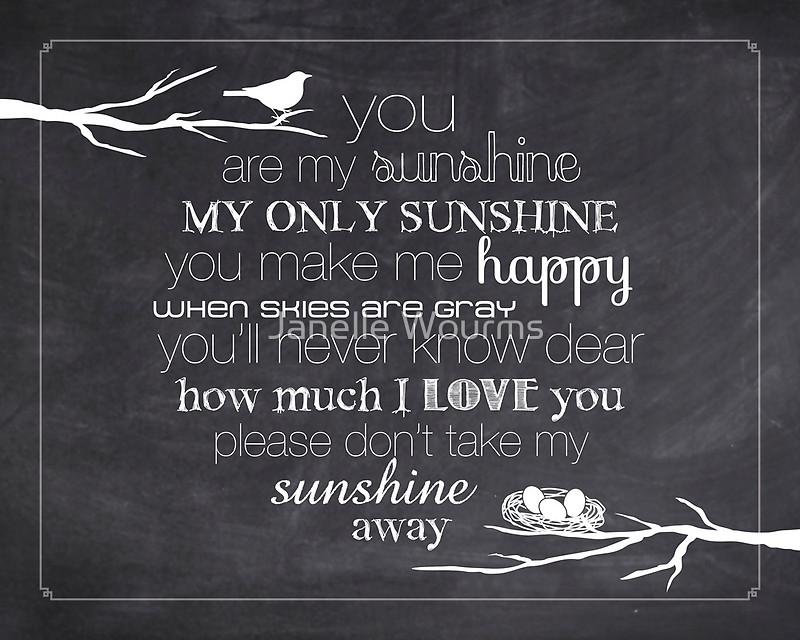 You Are My Sunshine Wallpaper Wallpapersafari