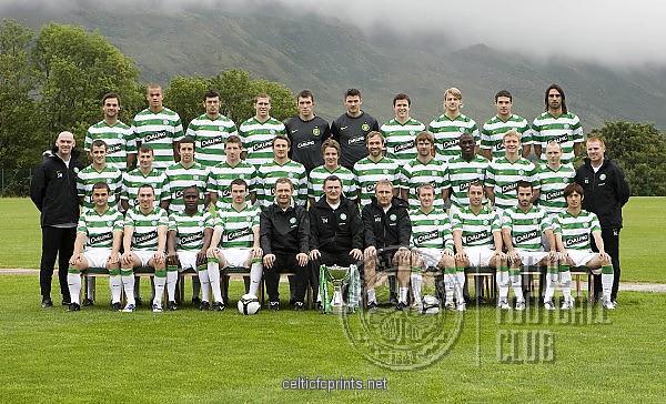 2010 CELTIC FC The 20092010 Celtic squad Prints   1712517   Celtic FC 600x364