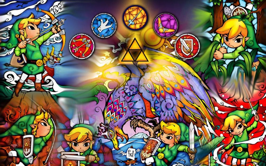 Link triforce The Legend of Zelda Young Link wallpaper 1680x1050 1120x700