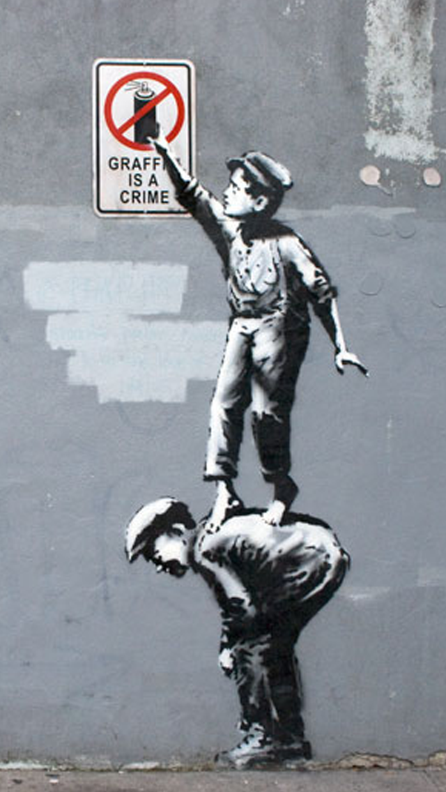 Banksy iPhone 6 Wallpaper - WallpaperSafari