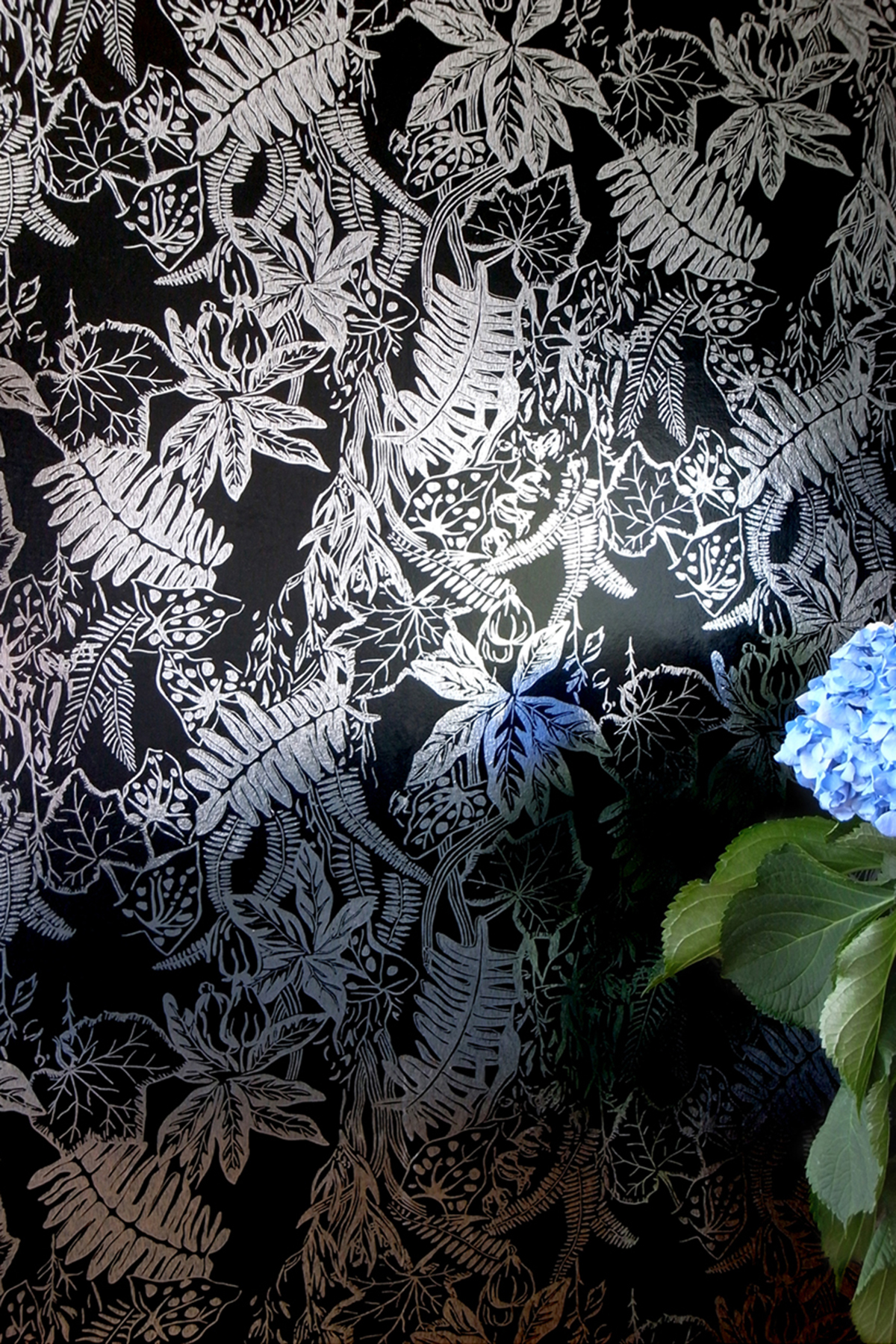 Hothouse Wallpaper   Silver and Black Monument Interiors 1200x1800