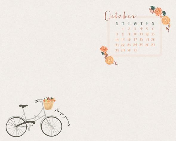 Indie Desktop Wallpaper October desktop calendar from 590x472