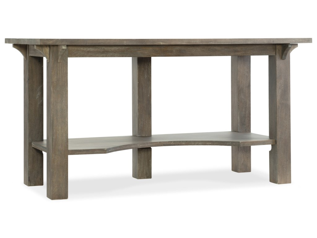 Hooker Furniture Urban Farmhouse Rustic Work Surface Table of 1024x768