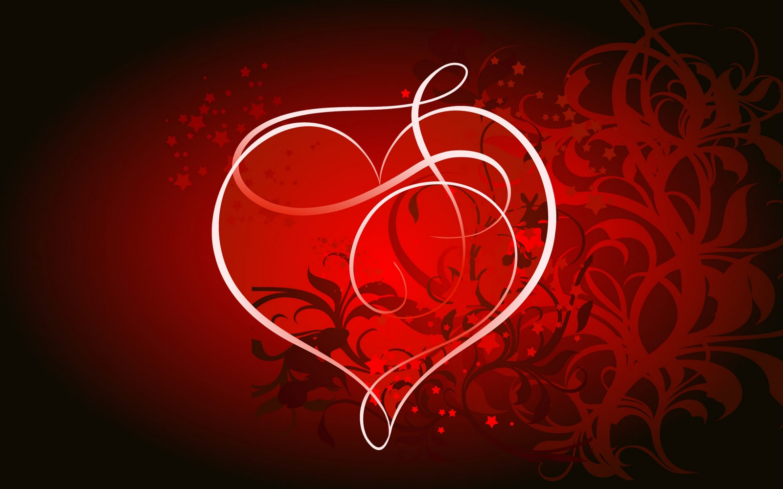 St Valentine Desktop red heart wallpaper freejpg 1600x1000
