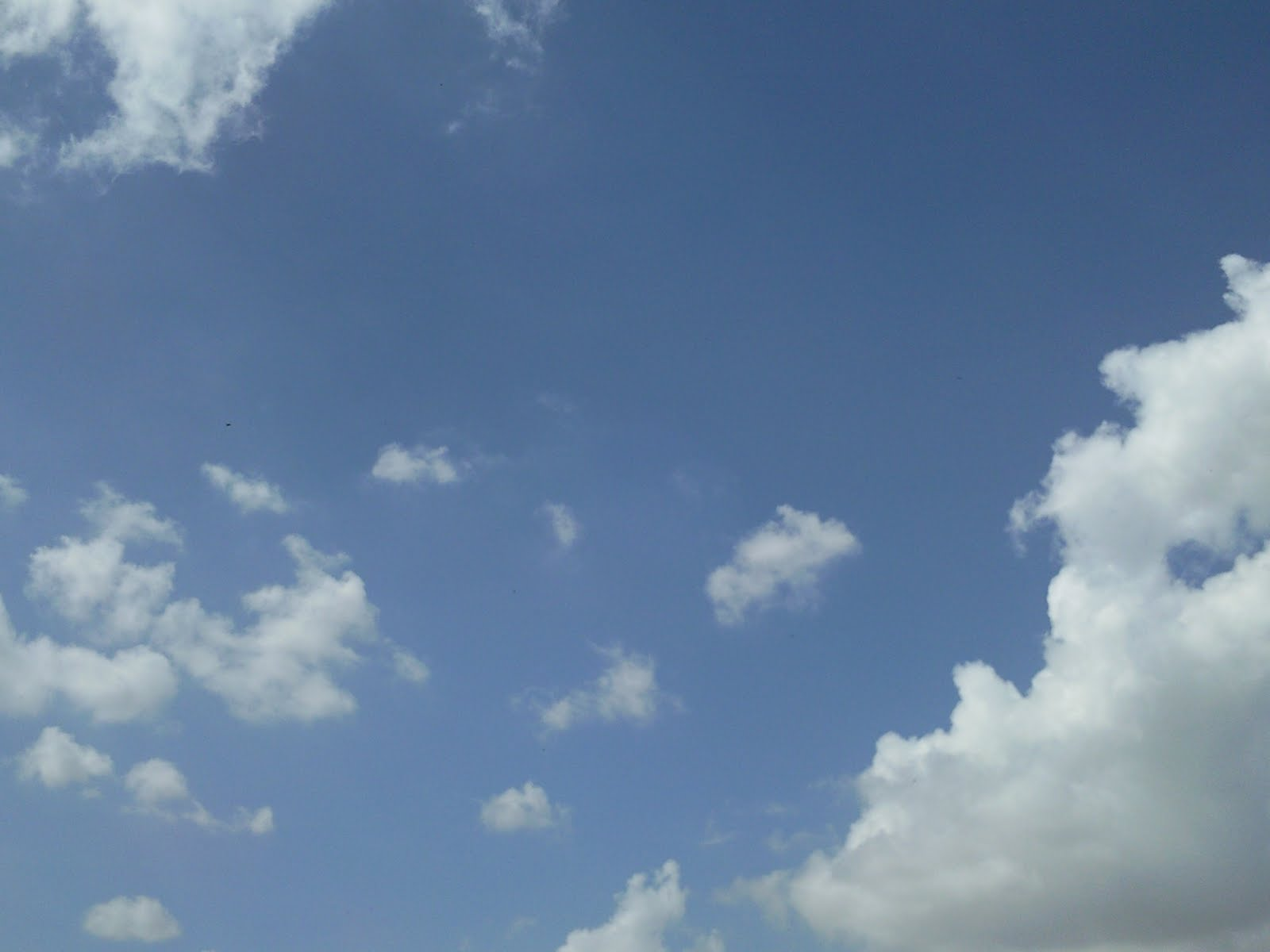 blue sky with lots of black clouds with white borders on right bottom 1600x1200