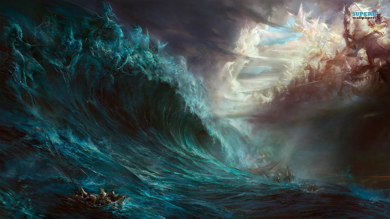 Anime Fantasy Epic Battle 460154 Wallpaper wallpaper 1366x768
