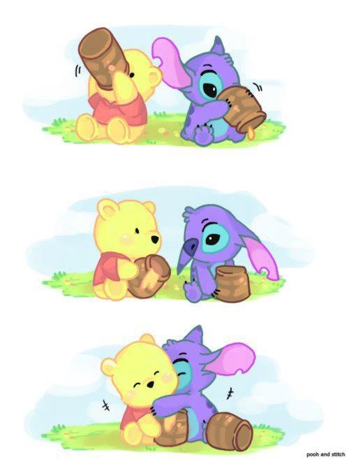 sixfearsoneloveBaby Pooh and Baby Stitch 500x657