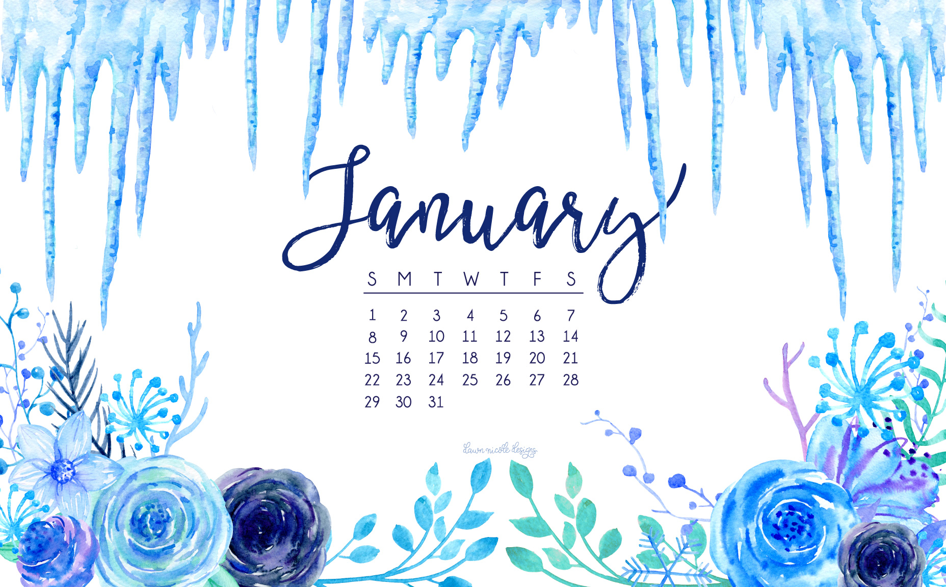 January 2017 Calendar Tech Pretties Dawn Nicole Designs 1856x1151