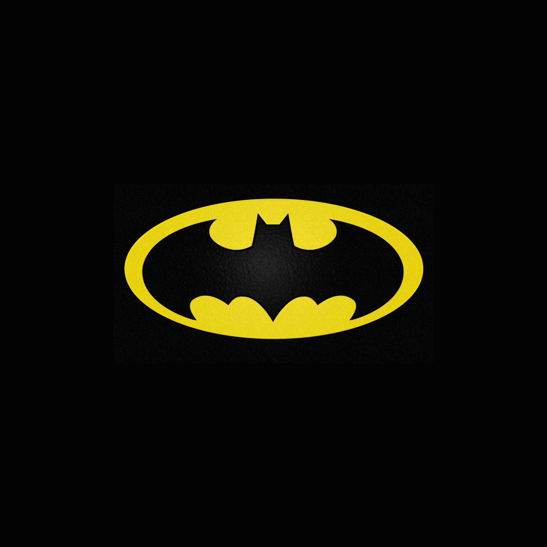 FREEIOS7 batman yellow logo   parallax HD iPhone iPad wallpaper 2448x2448