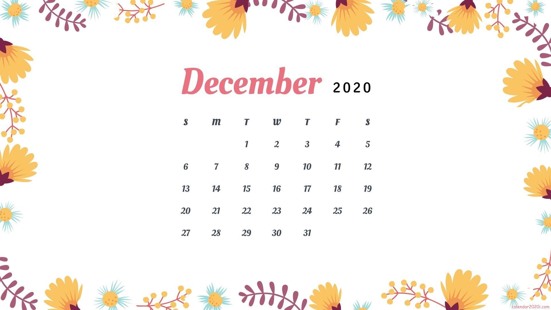 December 2020 Calendar HD Wallpapers Download Calendar 2020 1920x1080