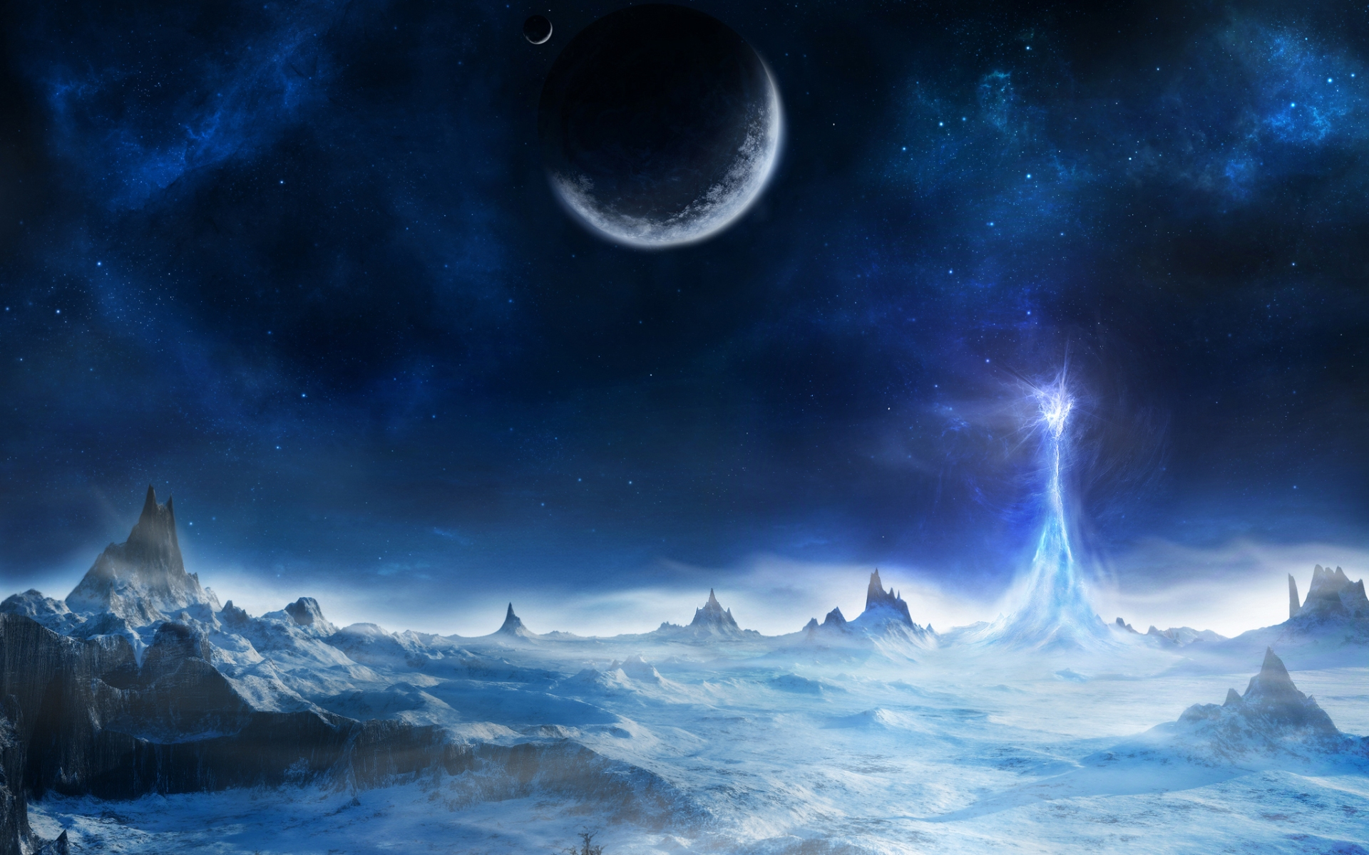 Outer Space Wallpaper 1920x1200 Outer, Space, Planets, Artwork ...