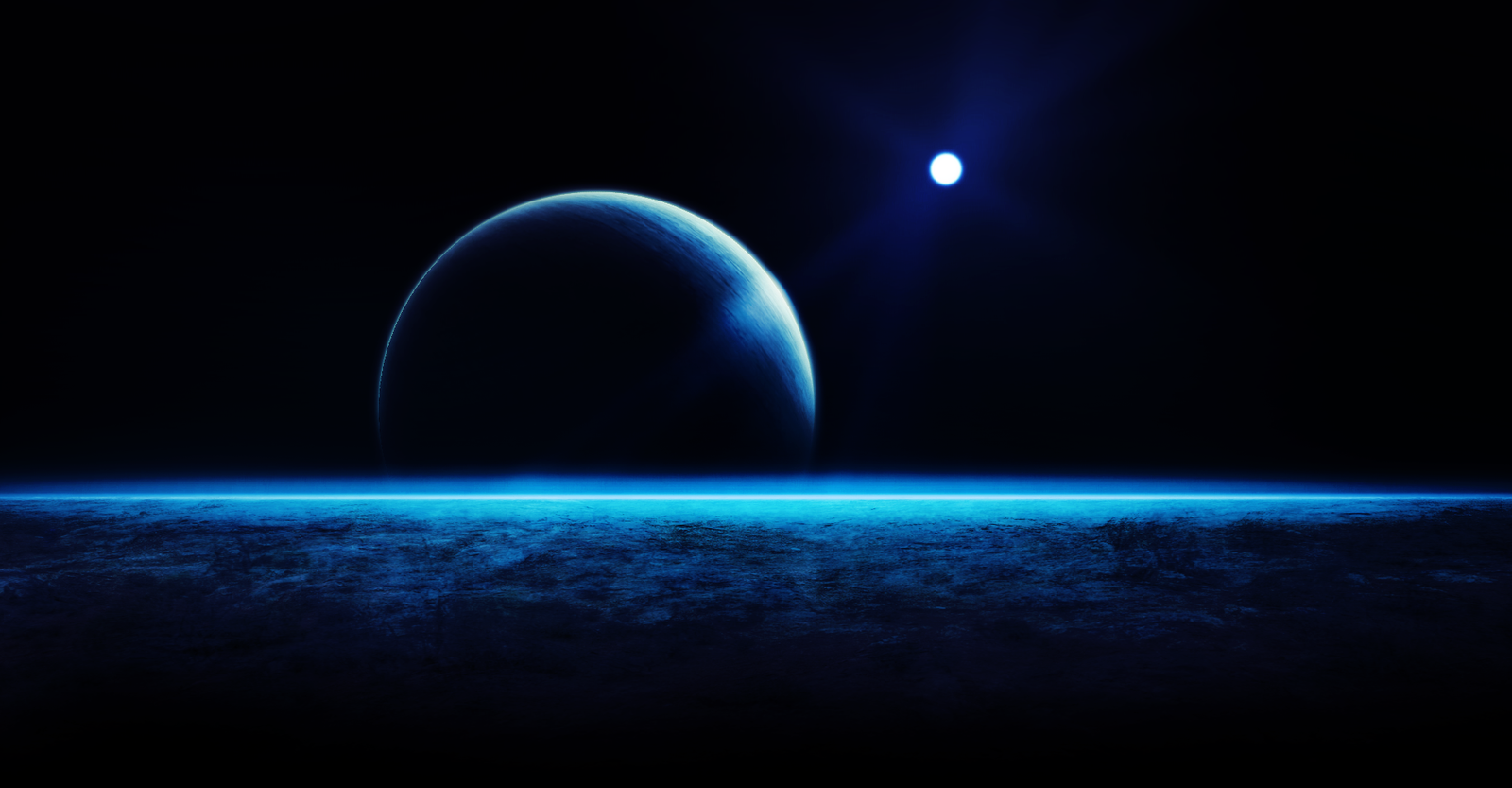Deep Blue Wallpapers 1600x833