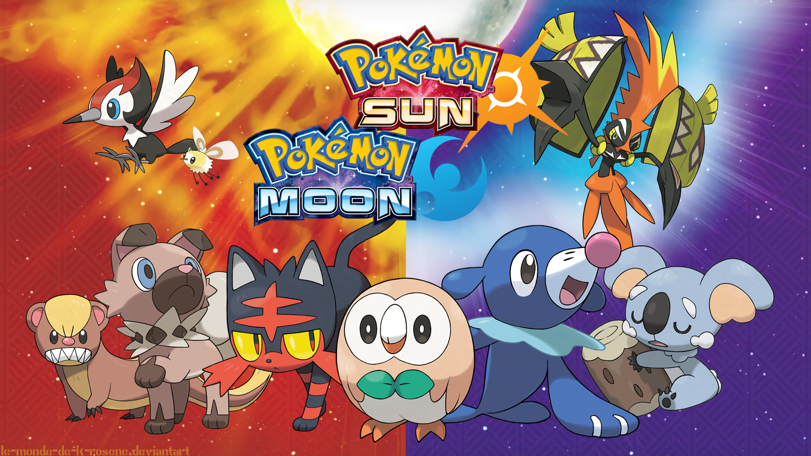 Pokmon Sun and Moon Wallpaper and Background Image 1600x900 1600x900