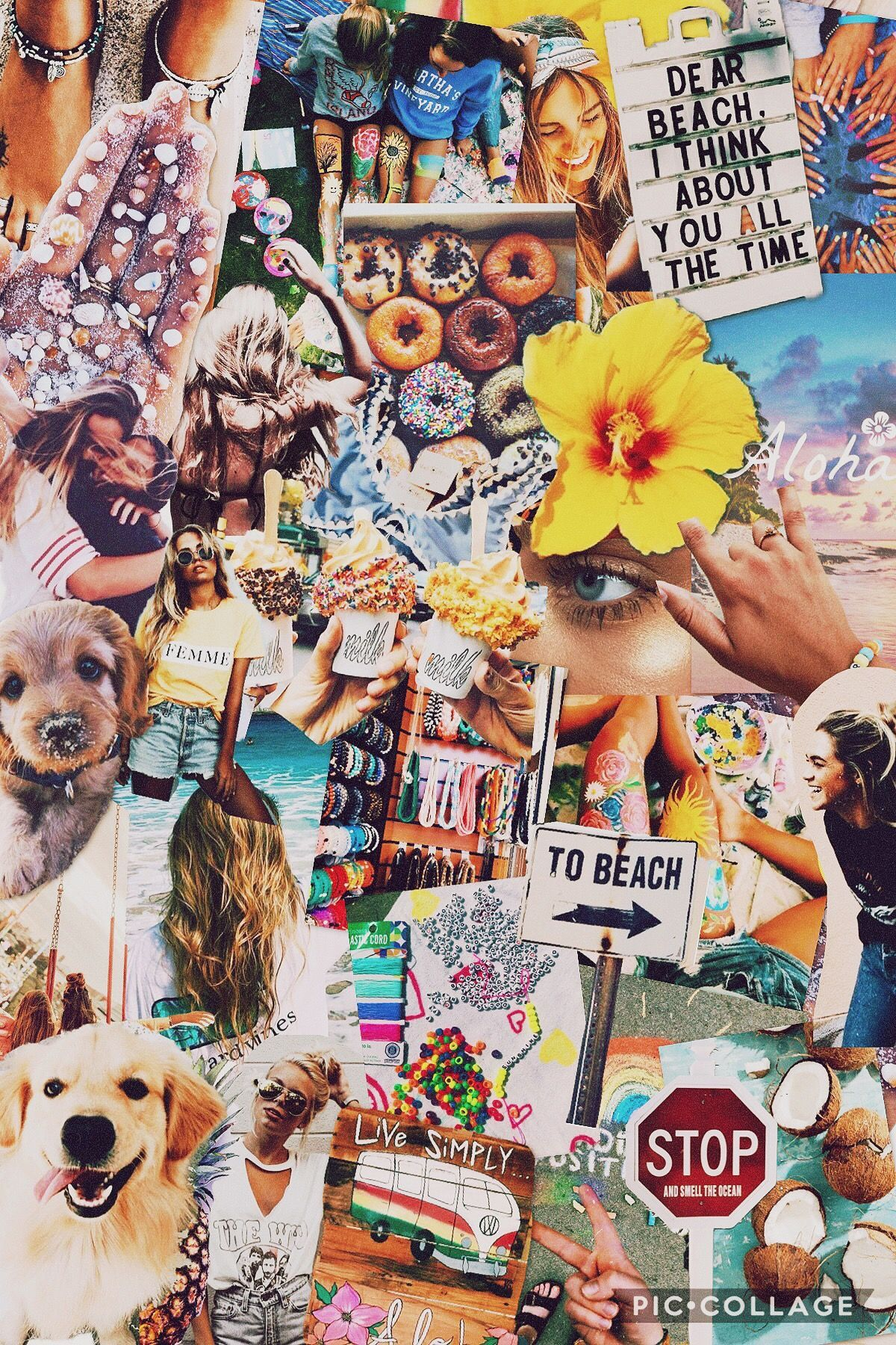 Aesthetic Summer Collage Wallpapers 1200x1800