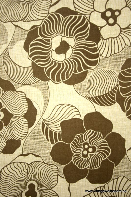 Brown Floral Wallpaper 533x800