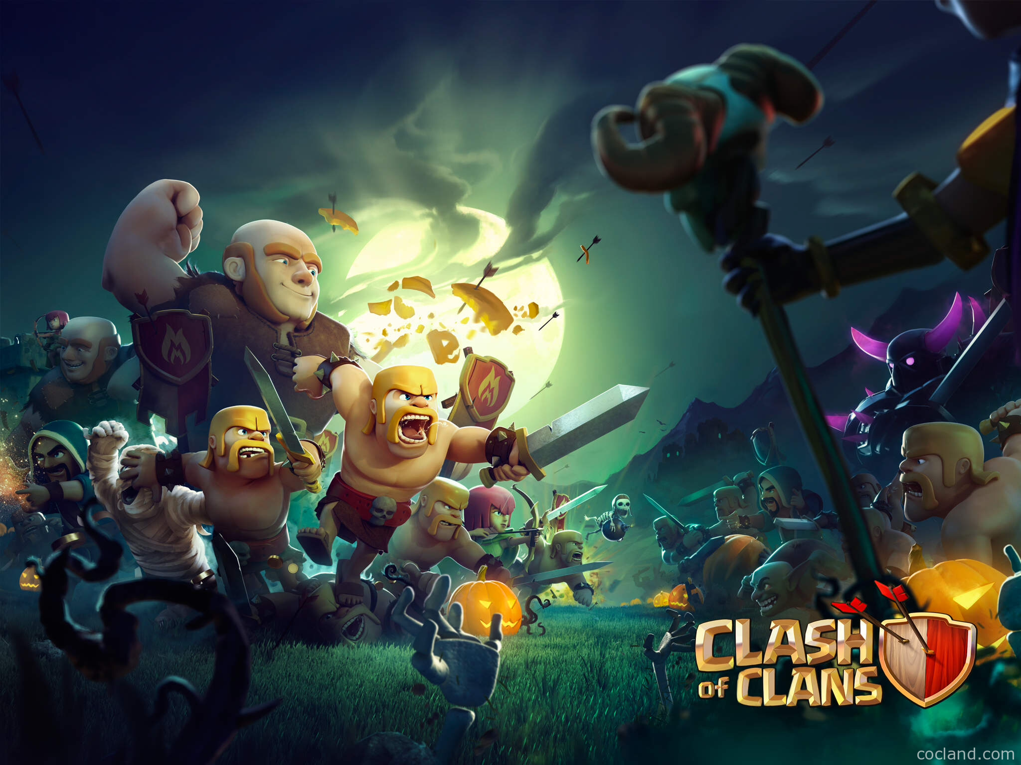 Clash of Clans HD Wallpapers Clash of Clans Land 2048x1536