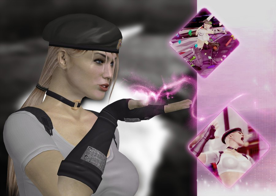 Sonya Blade kiss   wallpaper   by deexie 900x638