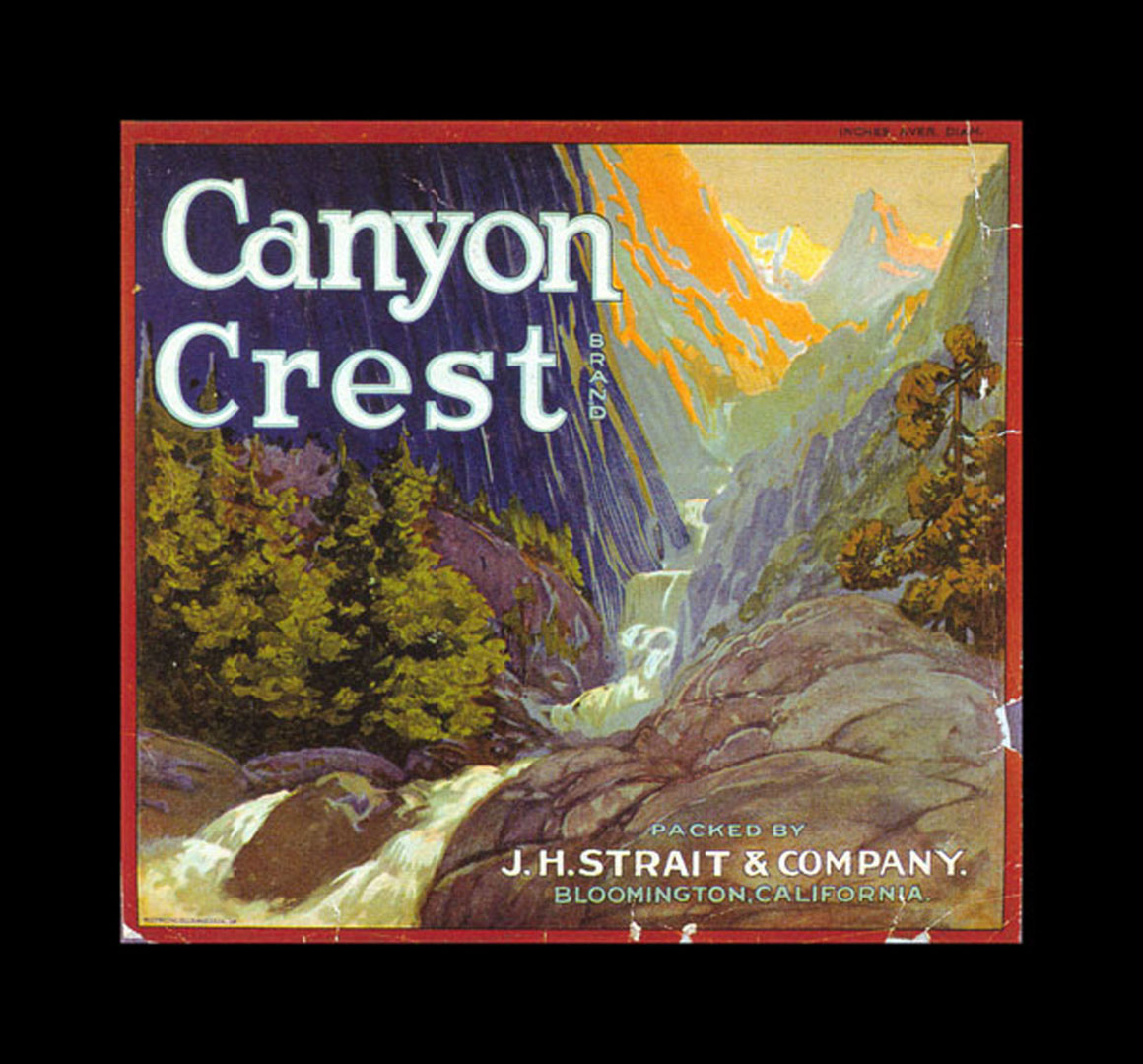 Crest Brand Oranges   Vintage Fruit Crate Labels Wallpaper Image 1160x1080