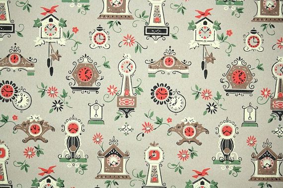 1940s Vintage Wallpaper   Vintage Kraft Paper with Kitsch Novelty Cl 570x380