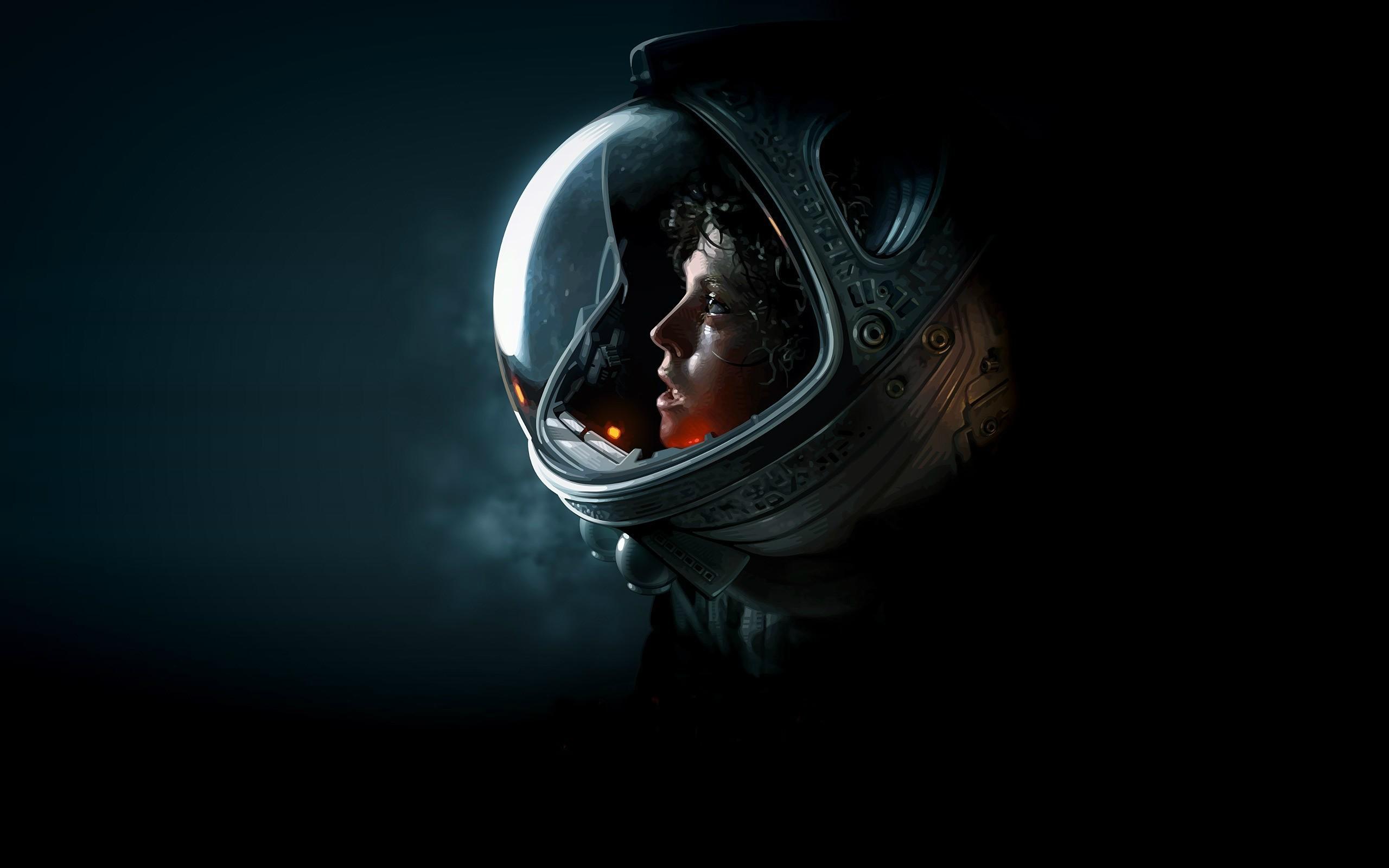 Alien movie Sigourney Weaver Ellen Ripley Artwork 2560x1600