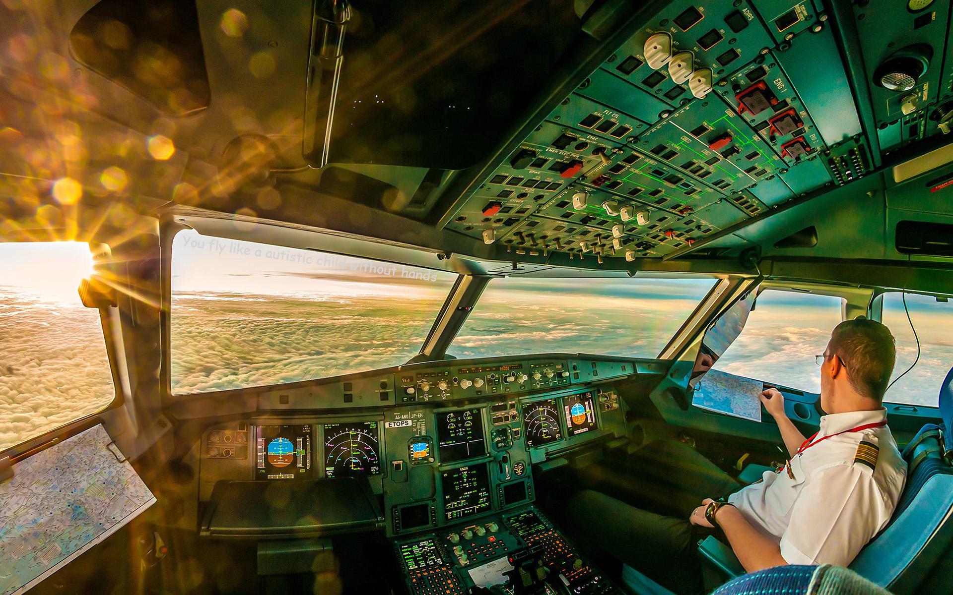 69 Airplane Cockpit Wallpaper On Wallpapersafari