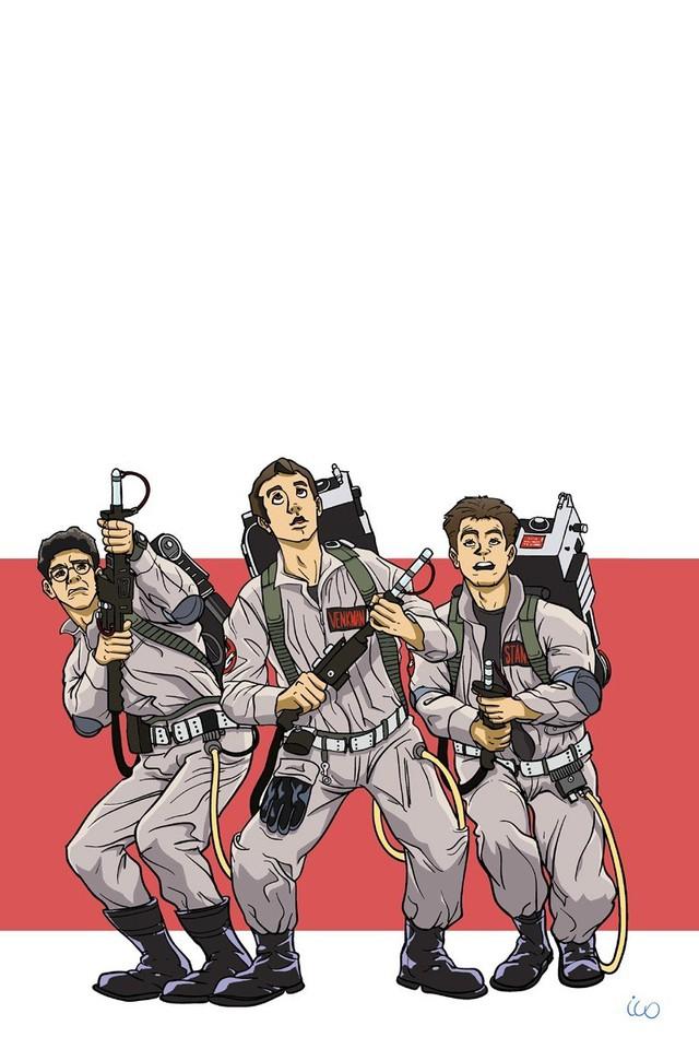 Movies cartoonish ghostbusters bill murray artwork dan aykroyd 640x960