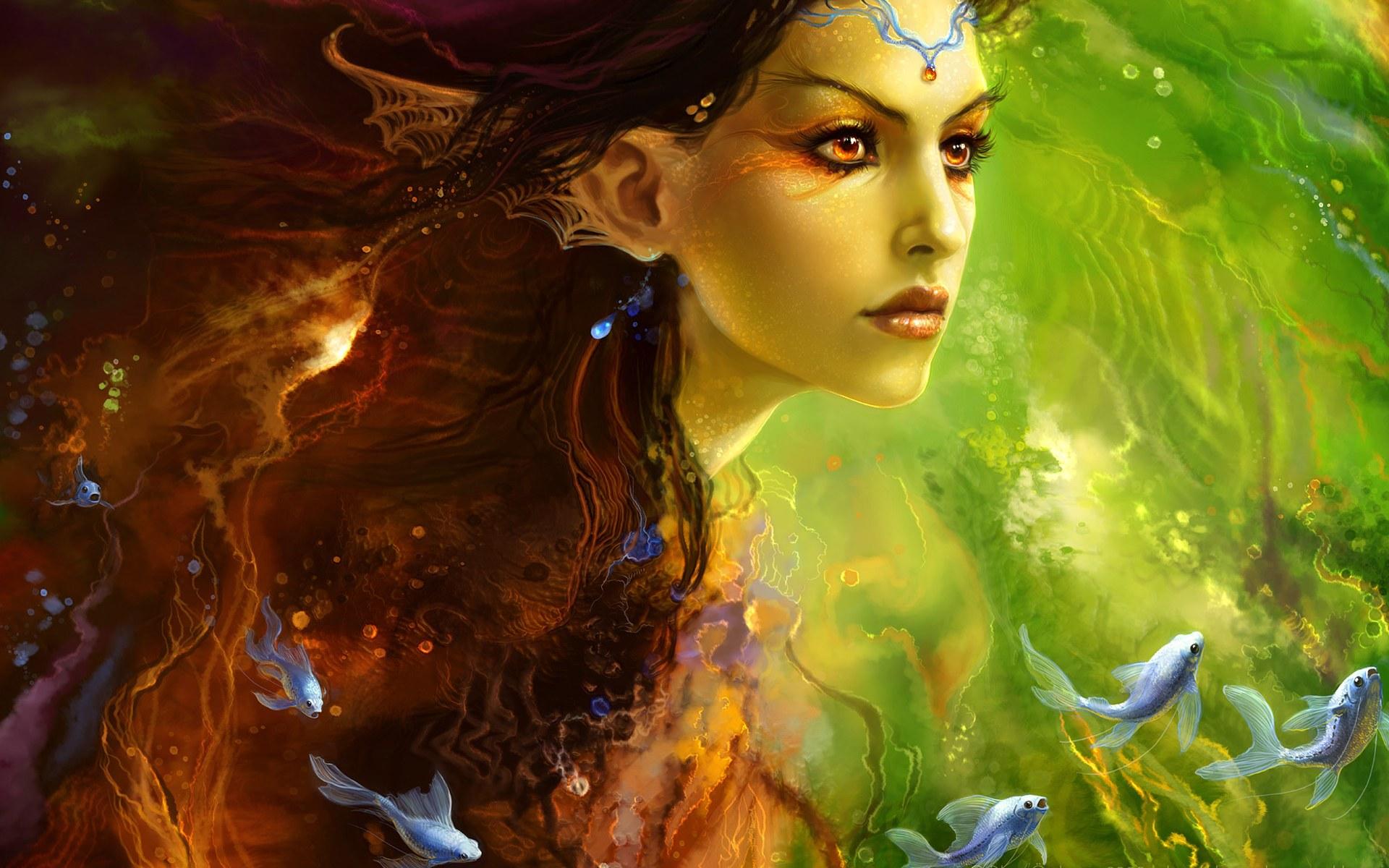Fantasy Girl Siren Princess Wallpapers 1920x1200