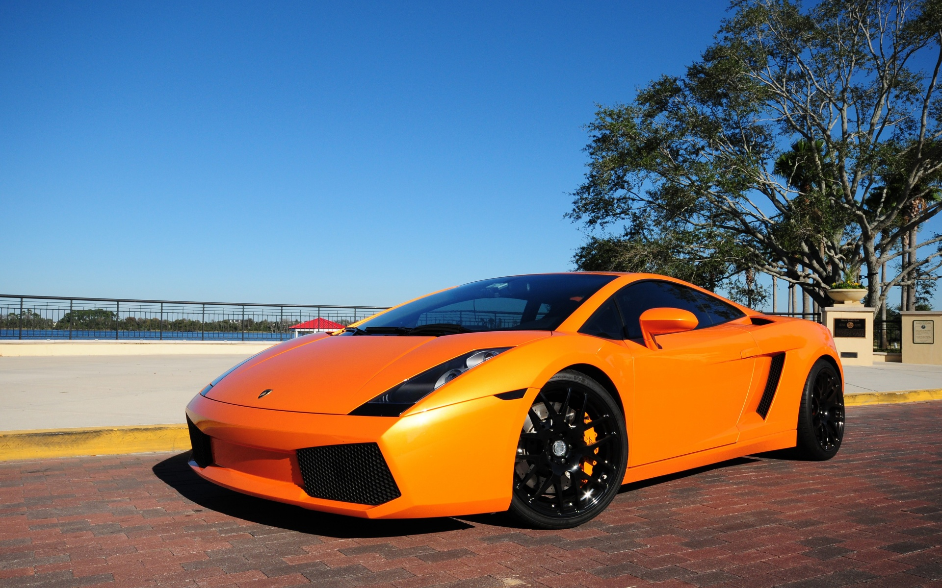Lamborghini Gallardo Orange Wallpaper HD Car Wallpapers 1920x1200