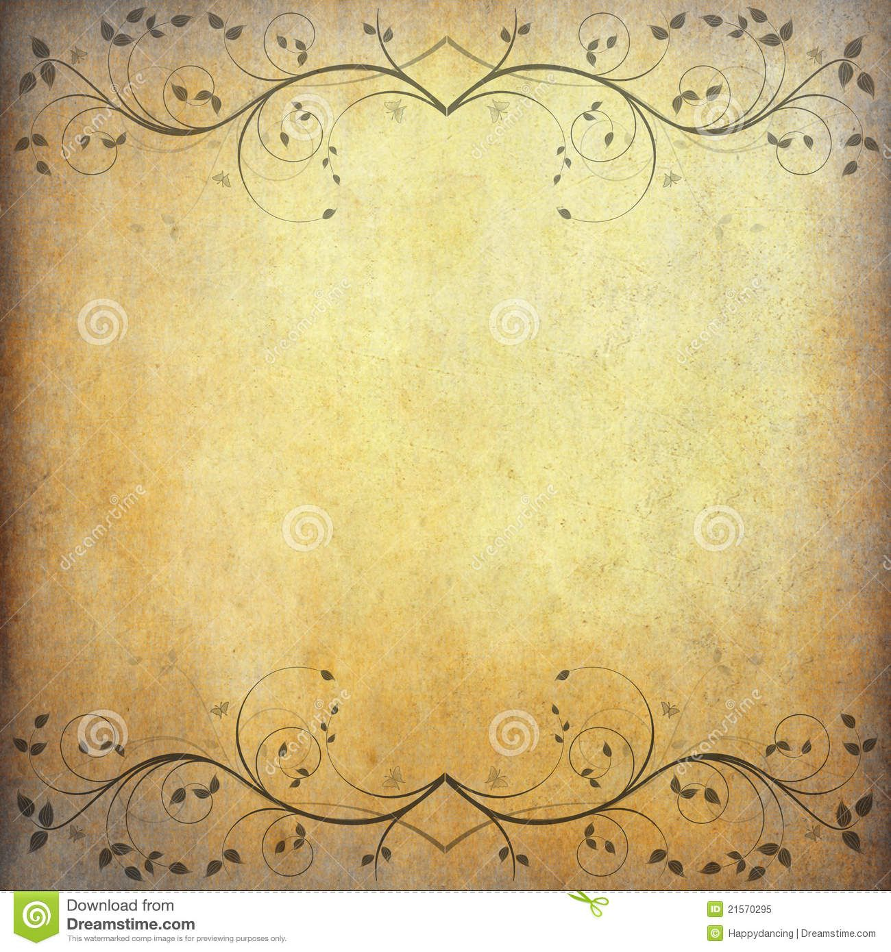 Old paper background with vintage flower Old paper background 1300x1390