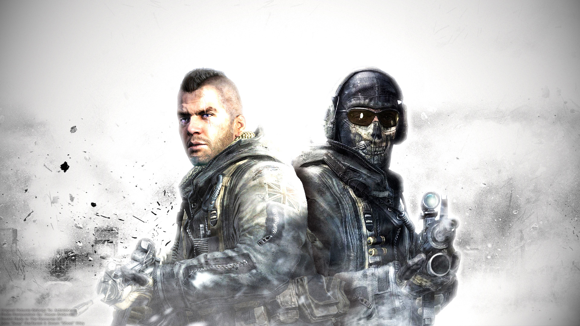 background call of duty wallpaper ghost