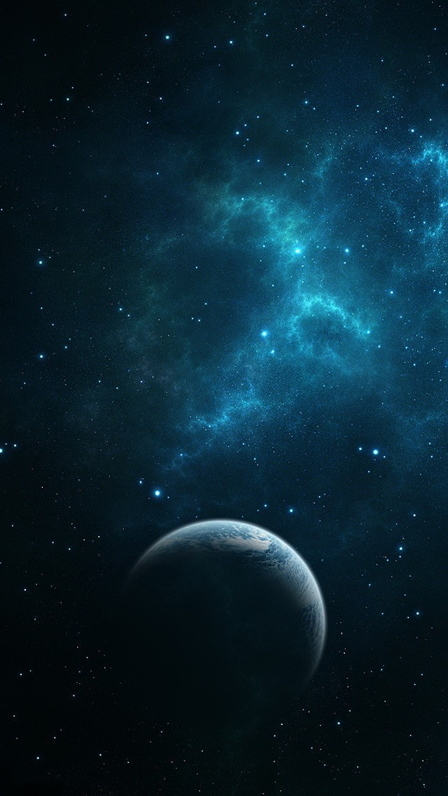 Dark Blue Space iPhone 5s Wallpaper Download iPhone Wallpapers iPad 640x1136